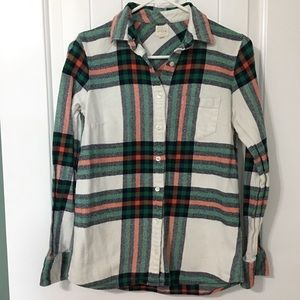 J Crew Factory Plaid Button-down Flannel Shirt